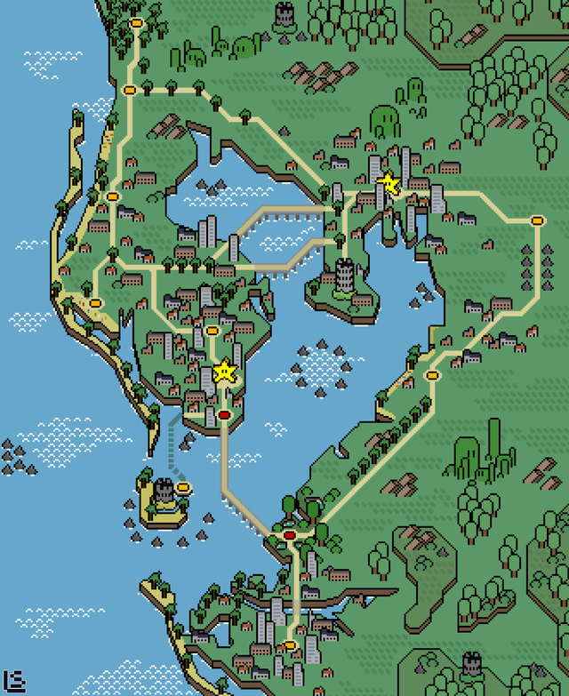 Lovely map of Tampa Bay in the style of Super Mario World! Source: buff.ly/3bOj9xS