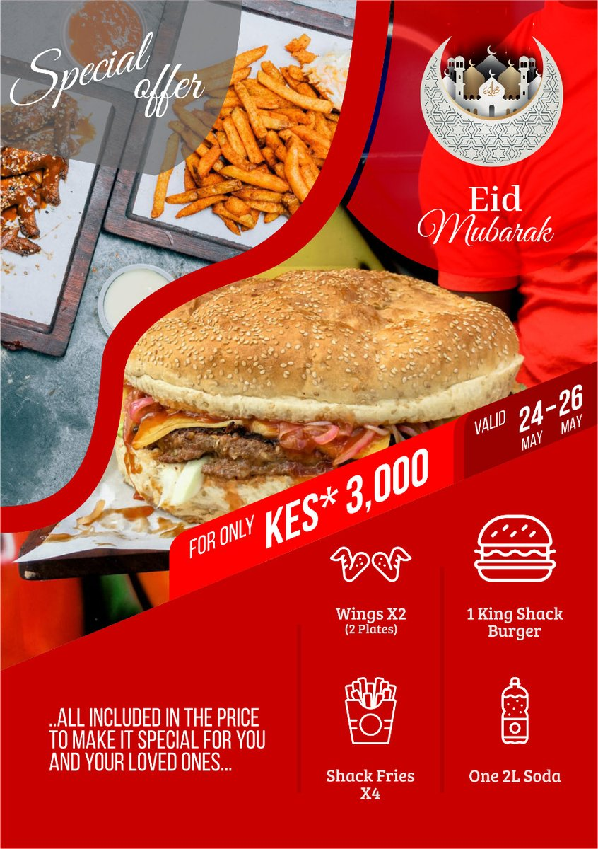 may the auspicious occasion of Eid bless you with peace and bring joy to your heart and home. Eid Mubarak! Grab this combo and make it extra special for the whole Fam  #foodie #burger #food #instafood #yum #foodstagram #fries #yummypic.twitter.com/O1m2rblBrt