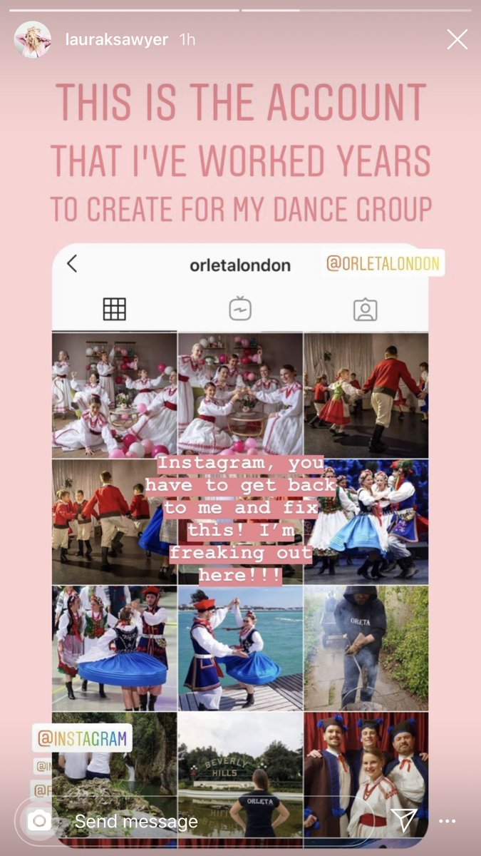 . @instagram Our dancing group page was blocked out of the blue. Please help us get it back!!! @OrletaLondon @LauRaKSawyer #instagramlocked #instahelp #polishfolkdancing #instagram #instagramhelpcentre #instagramverification pic.twitter.com/RvY6Xj2lvT