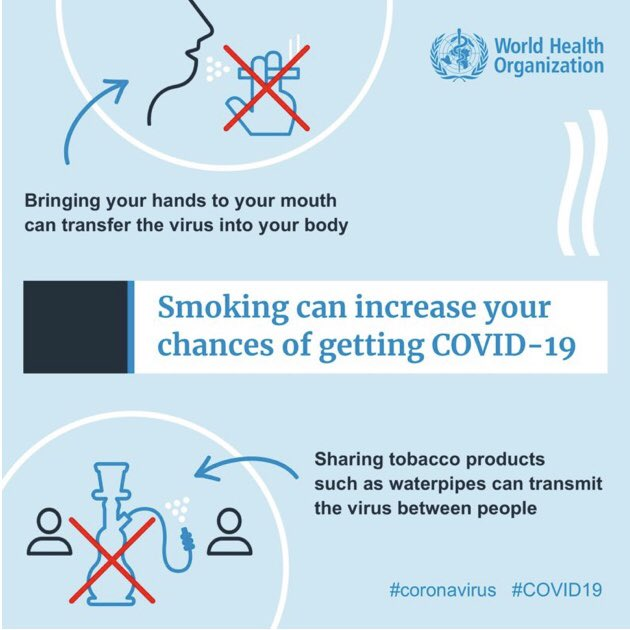 People who smoke are more susceptible to complications if infected with a coronavirus. BHBM helps countries get mHealthy, with our mCessation program showing great results at scale. If you're interested in using mHealth to help smokers quit, contact us! #COVIDー19 https://t.co/EJCeBk3jey
