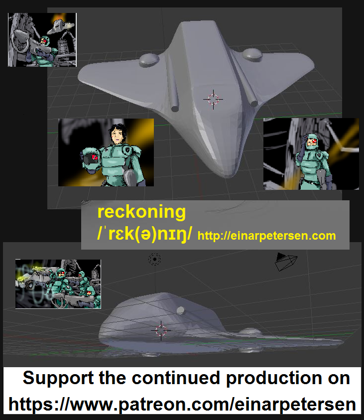 Conspiracy, NWO, scifi + awesome action in the #comicbook Reckoning and on top of that #3DPrintable models + Panels you can actually dive into and zoom around in! - Explore and support on ? Read the story on