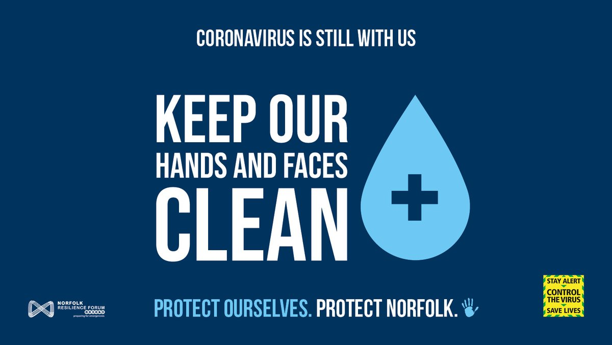 Good hygiene habits can help to save lives ❤️ Keep tissues with you to catch coughs and sneezes 🤧 Remember to wash your hands for 20 seconds every time ⏱️ Use hand sanitiser 🖐️🧴 when you cant wash your hands 🧼 Help to protect those around you 🛡️ #ProtectNorfolk