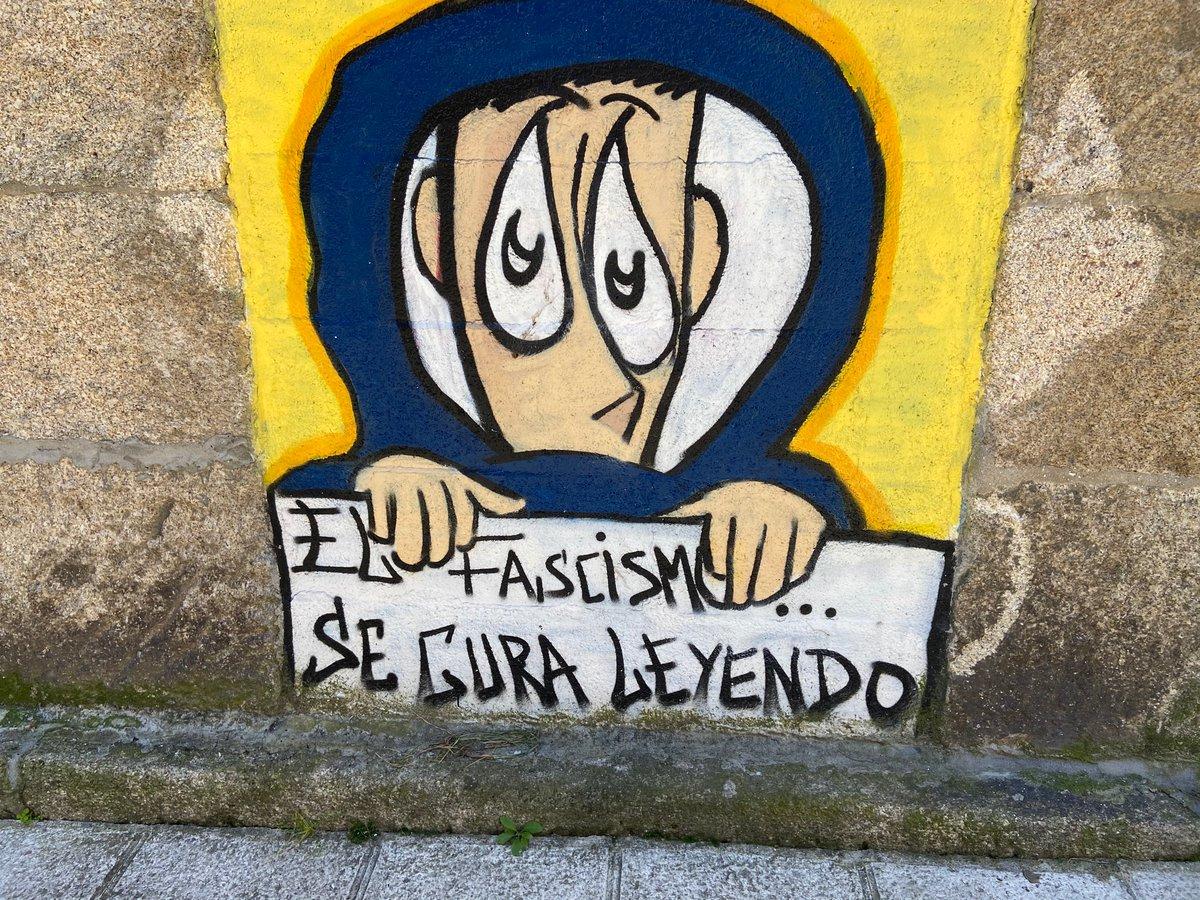 El fascismo se cura leyendo #Bouzas #Vigo #Vigocity