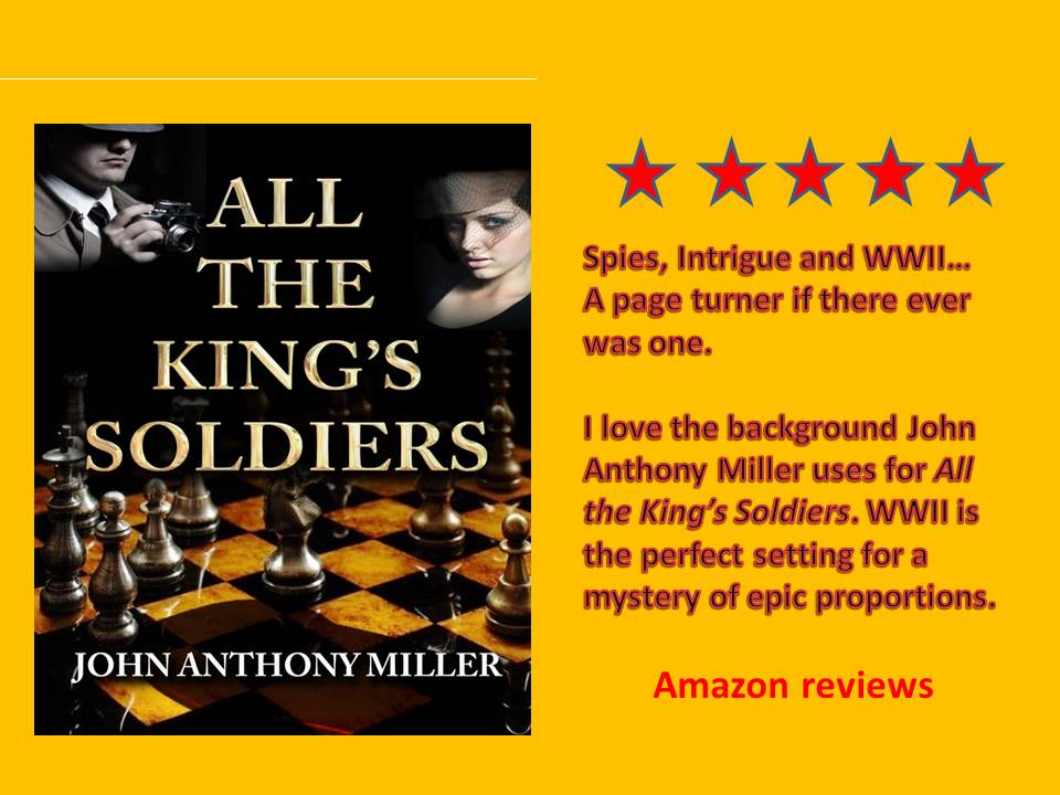 All the King's Soldiers Romance, spies and murder in WWII Lisbon  #mystery #thriller #Lisbon https://www.amazon.com/Kings-Soldiers-John-Anthony-Miller-ebook/dp/B06XKHG65S/… https://www.amazon.co.uk/Kings-Soldiers-John-Anthony-Miller-ebook/dp/B06XKHG65S/…pic.twitter.com/r7DAMznYcg