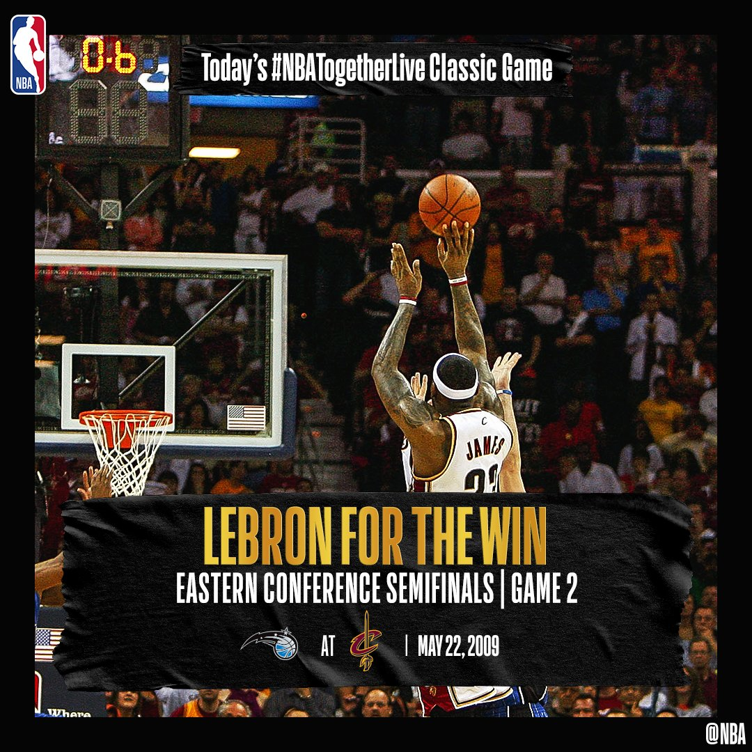 #TurnBackTheClock to 2009, when @KingJames drained his first #TissotBuzzerBeater in Game 2 of the ECFs against the @OrlandoMagic! Visit: https://t.co/2h7PuPsSaj to relive the whole game. #NBATogetherLive https://t.co/OarjhthAk5