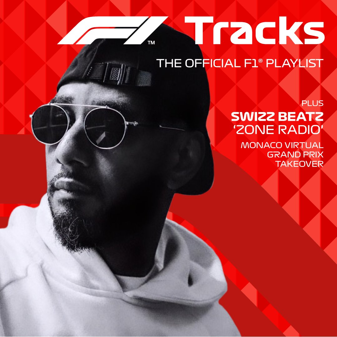 """This weekend @THEREALSWIZZ brings """"Zone Radio"""" to #F1Tracks for the Monaco Virtual Grand Prix!   Listen on @Spotify >> https://t.co/ukTJLlLCnp https://t.co/LSnzNZQkgi"""