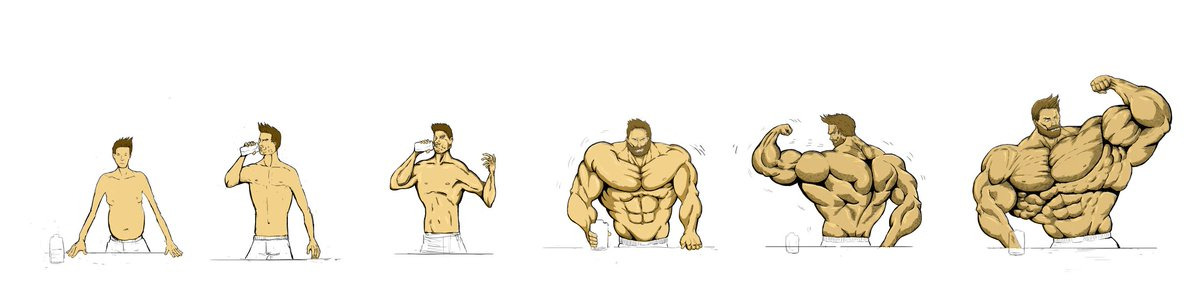 And another #musclegrowth sequence, #muscle. pic.twitter.com/HRfjOiFmAH