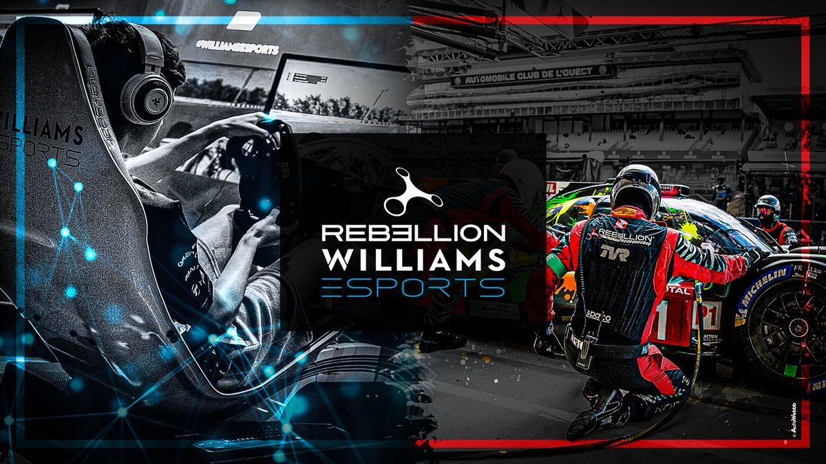 📢 #WilliamsEsports and @RebellionRacing join forces for the virtual @24heuresdumans!  The two entities will enter in #LMP2 category under the REBELLION WILLIAMS ESPORTS banner.  Full story: https://t.co/BvOXwrtmSr  #SimRacing #LeMans24Virtual #REBELLION https://t.co/pQ0u9eYuhE
