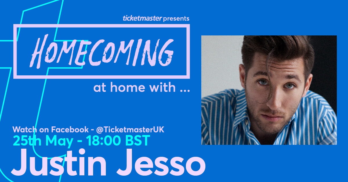 HOMECOMING – At Home With… @justinjesso_ 😎 The singer takes us on a tour through his neighbourhood from 18:00 (BST) on Monday 25 May 2020 >>   All in aid of @musicvenuetrust, @HelpMusiciansUK, #CrewNation and more. Donate here >>