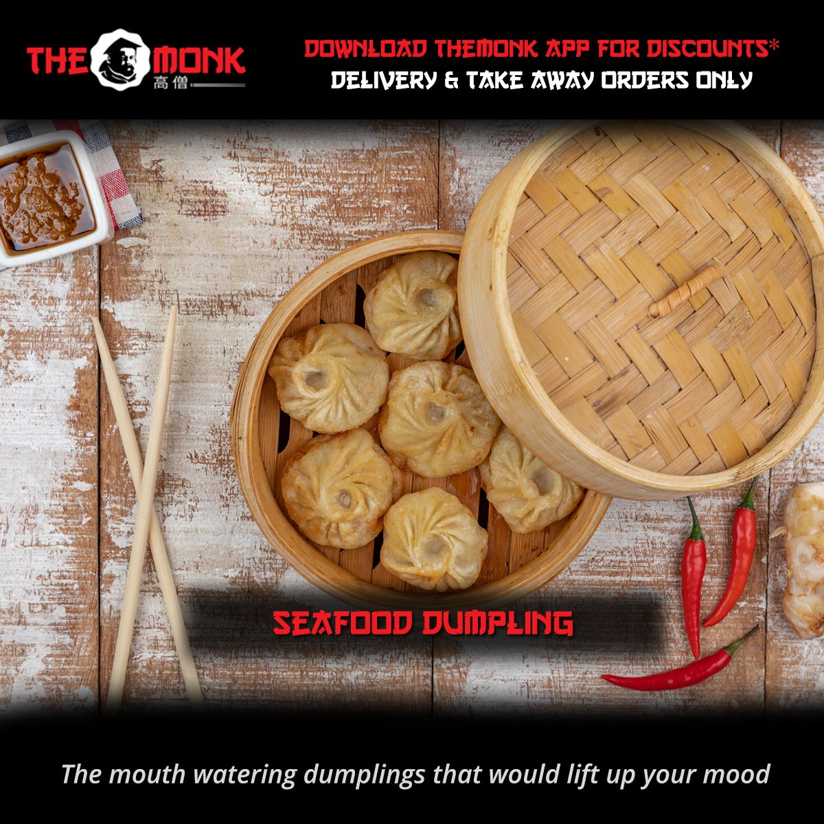 Lift up your mood with a festive dumpling basket this Eid from our kitchen straight to your table!  #TheMonk #DubaiFoodies #AsianCuisine #DubaiCuisine #snacks #eidmeals #eid2020 #asianfusion #MyDubai #StaySafepic.twitter.com/wPUF3lAgQB