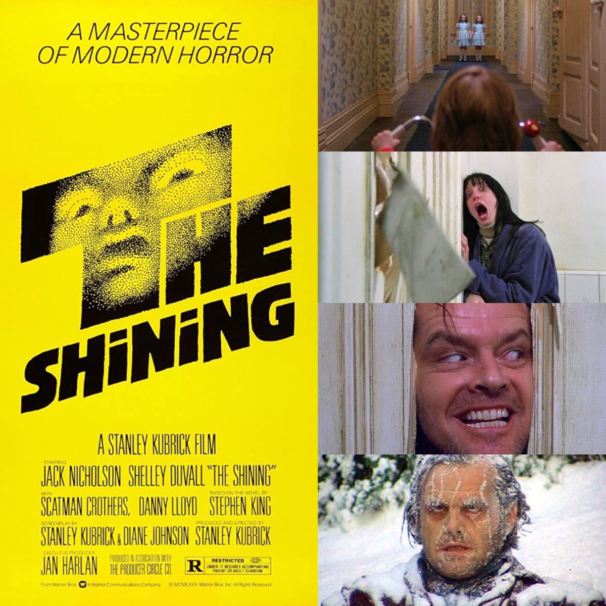 """Happy 40th Anniversary to #TheShining! On this day in 1980, the film had a limited release to audiences. Directed by #StanleyKubrick. Written by Stanley Kubrick and Diane Johnson, based on the novel by #StephenKing. """"All work and no play make Jack a dull boy...""""pic.twitter.com/Oq9tzv0qDf"""