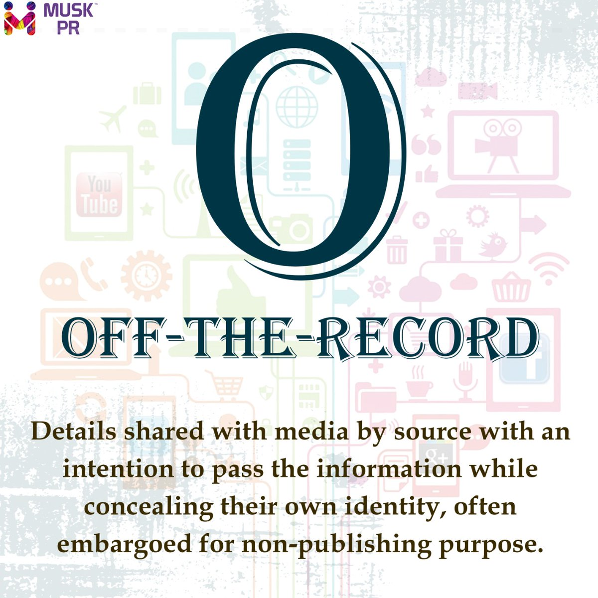O for Off-The-Record  #muskpublicrelations #Jaipur #AtoZpic.twitter.com/meZCtAtF2D