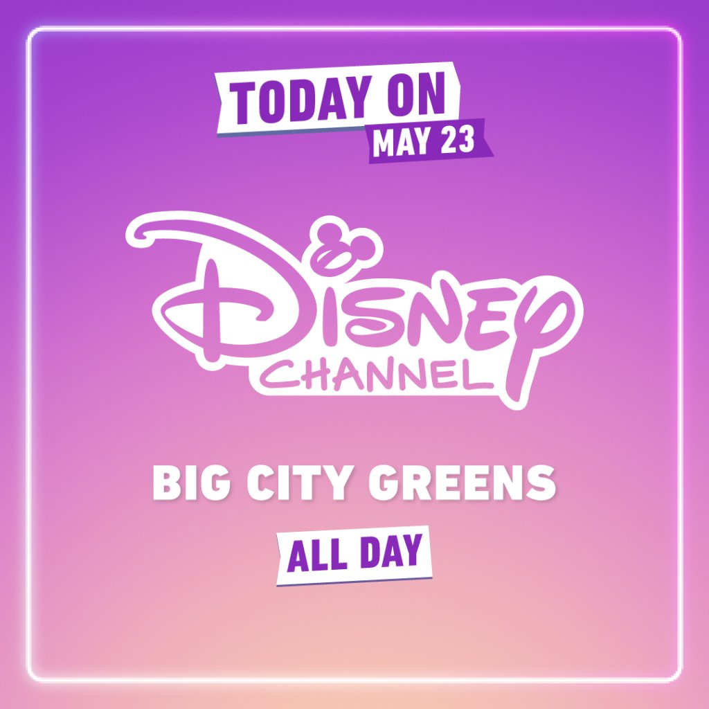 Happy Saturday! Weve got some fabulous news —#DisneyChannel is showing an all-day #BigCityGreens marathon for those of you who cant get enough of the Greens! 💚 Whos excited? 🙋