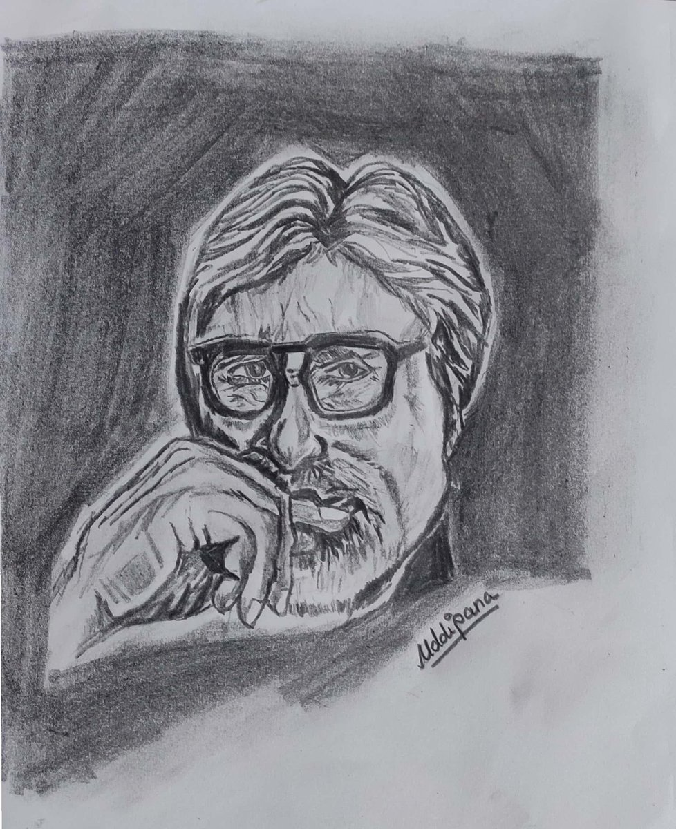Tried to draw the legendthough not perfect #AmitabhBachchan #AbhishekBachchan #AmitabhBachchan_what_is_copyright #Pencildrawing #pencilartpic.twitter.com/xIkr4NLKnj
