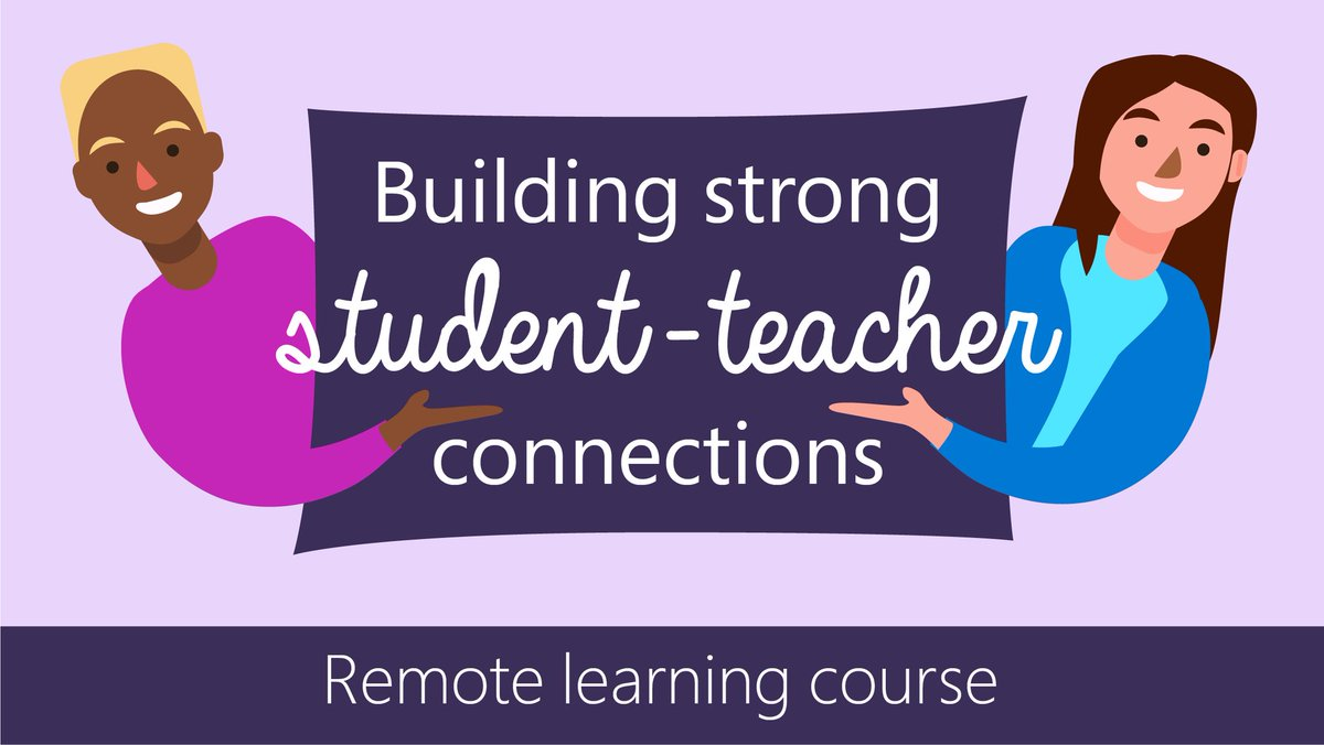 As you continue teaching remotely, this course will guide you with best practices to help strengthen connections in your school community. Get started to learn more about using tools like #OneNote, #MicrosoftTeams, and @Flipgrid.   👉 https://t.co/YwXzcz0Mnv  #remotelearning https://t.co/i3ohddjgWQ