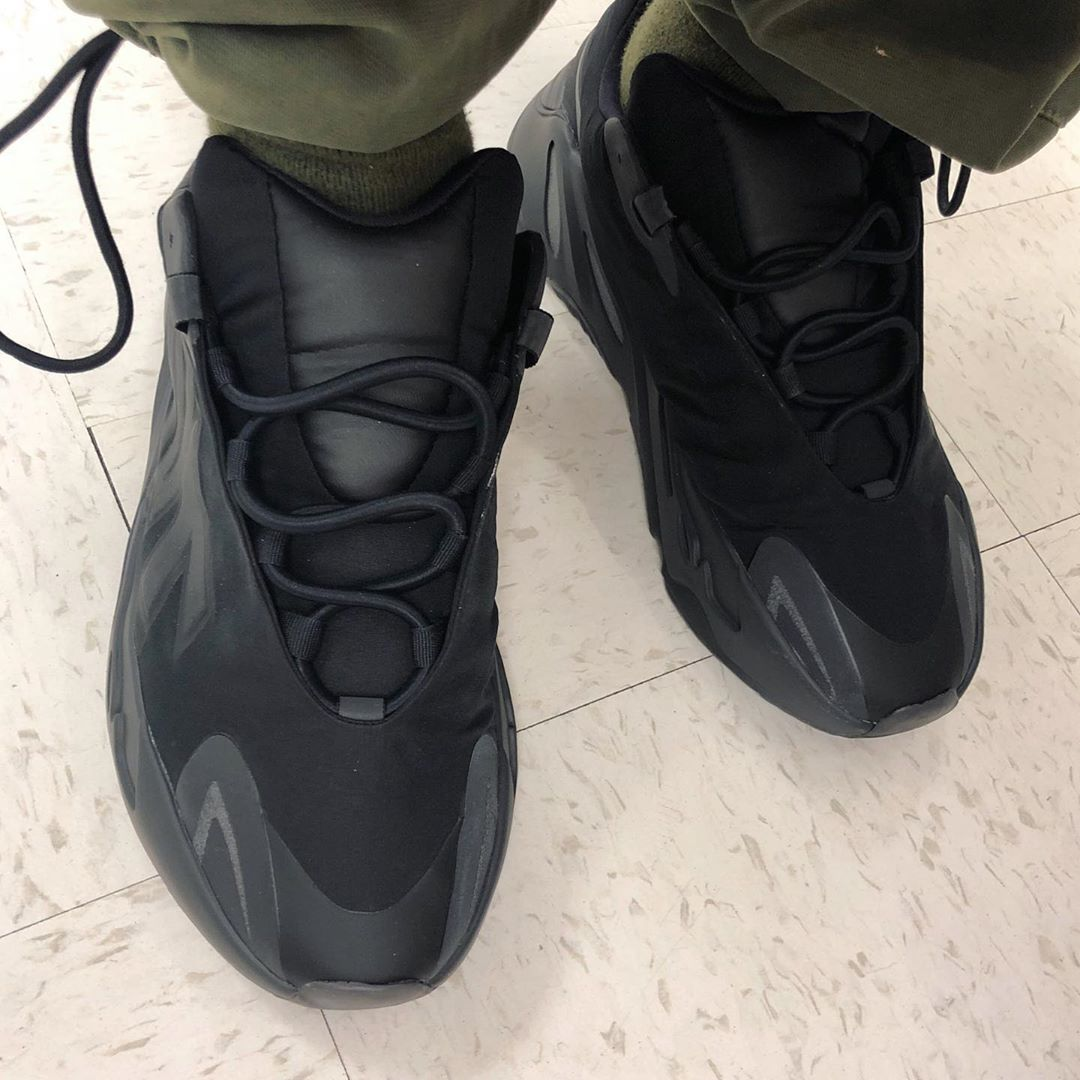 """The YEEZY BOOST 700 MNVN """"Black"""" has sold out online, still available on @StockX 💣 📸 @wex1200"""
