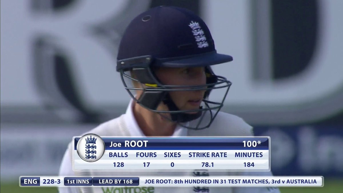 💯 up for @root66 - that's his third Ashes century 👏  #ENGvAUS 🏴🇦🇺🏏🏺  England in complete control of the 2015 @trentbridge Test 🏏  Watch full replay right now on Sky Sports Cricket and Sky Sports Main Event 📺  👉 https://t.co/gzf0xzzJcA 🏴🇦🇺🏏🏺 https://t.co/vkhOWwU2Zq