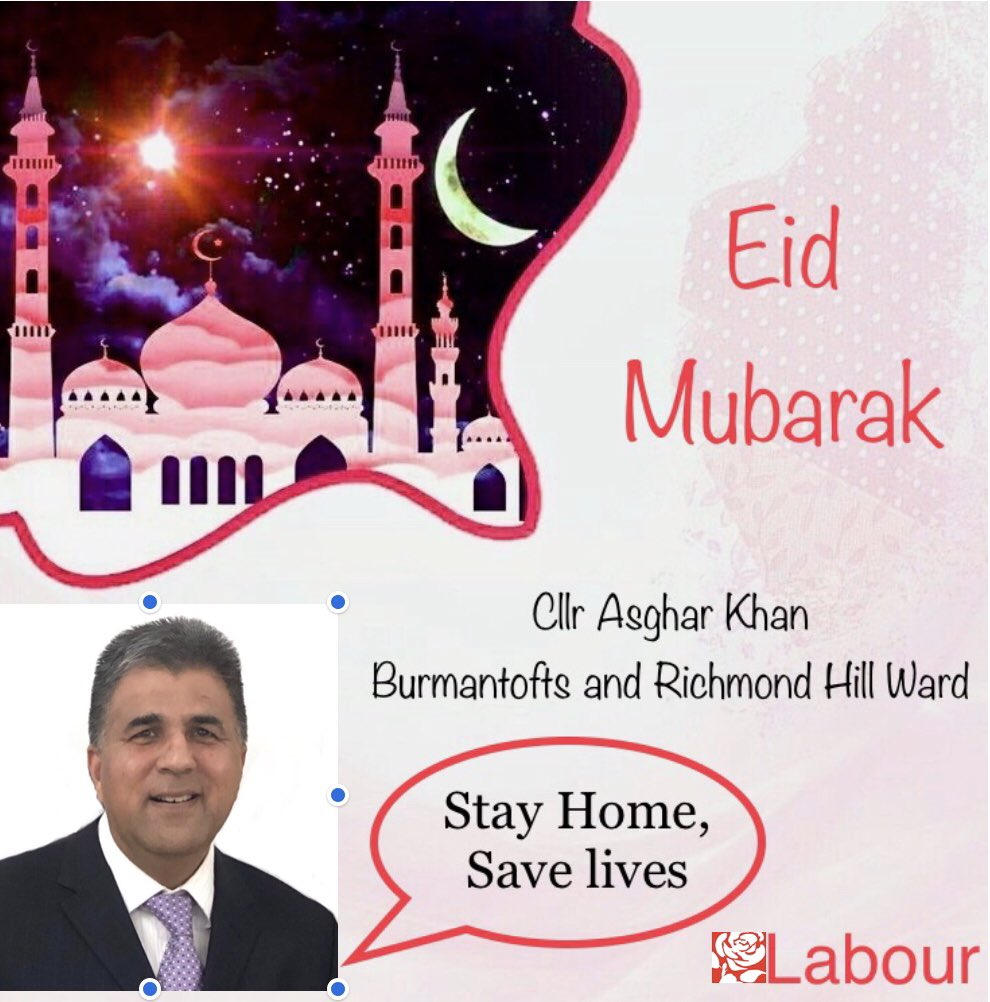 Happy #EidMubarak to all those celebrating in #Leeds and around the world. Although celebrations will be very different this year, we hope you all enjoy a wonderful day #EidMubarak #EidUlFitr2020 #EidatHome #Eid #Burmantofts #RichmondHill #LeedsCityCouncil