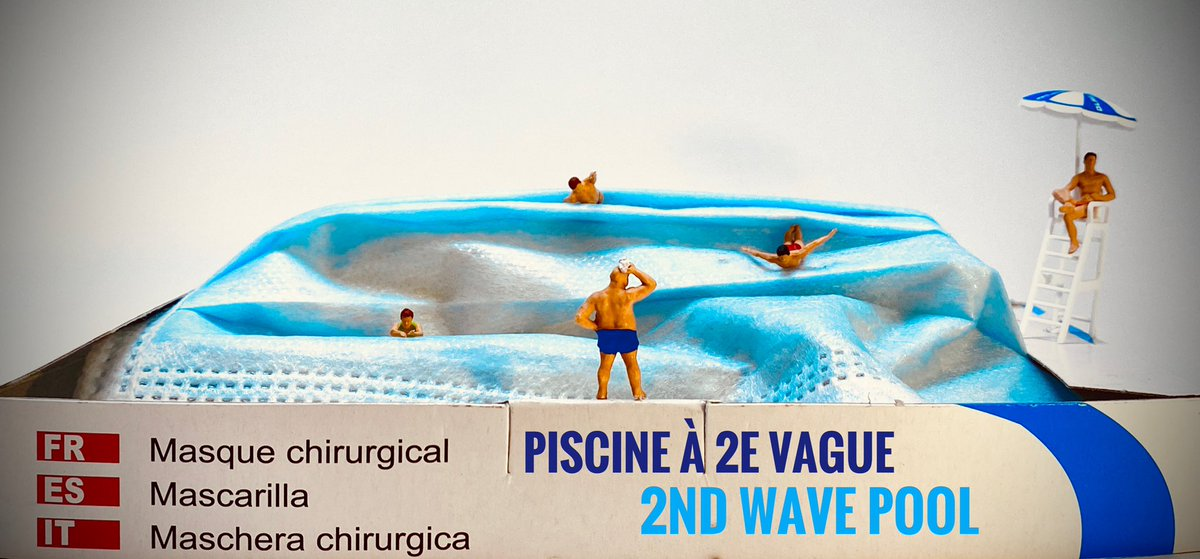 #COVID #deuxiemevague #gestesbarrieres #masques #wavepool Même dans la piscine à vague, nageons masqués ! Stop the wave, wear a face mask !pic.twitter.com/ZFhuOmppgZ