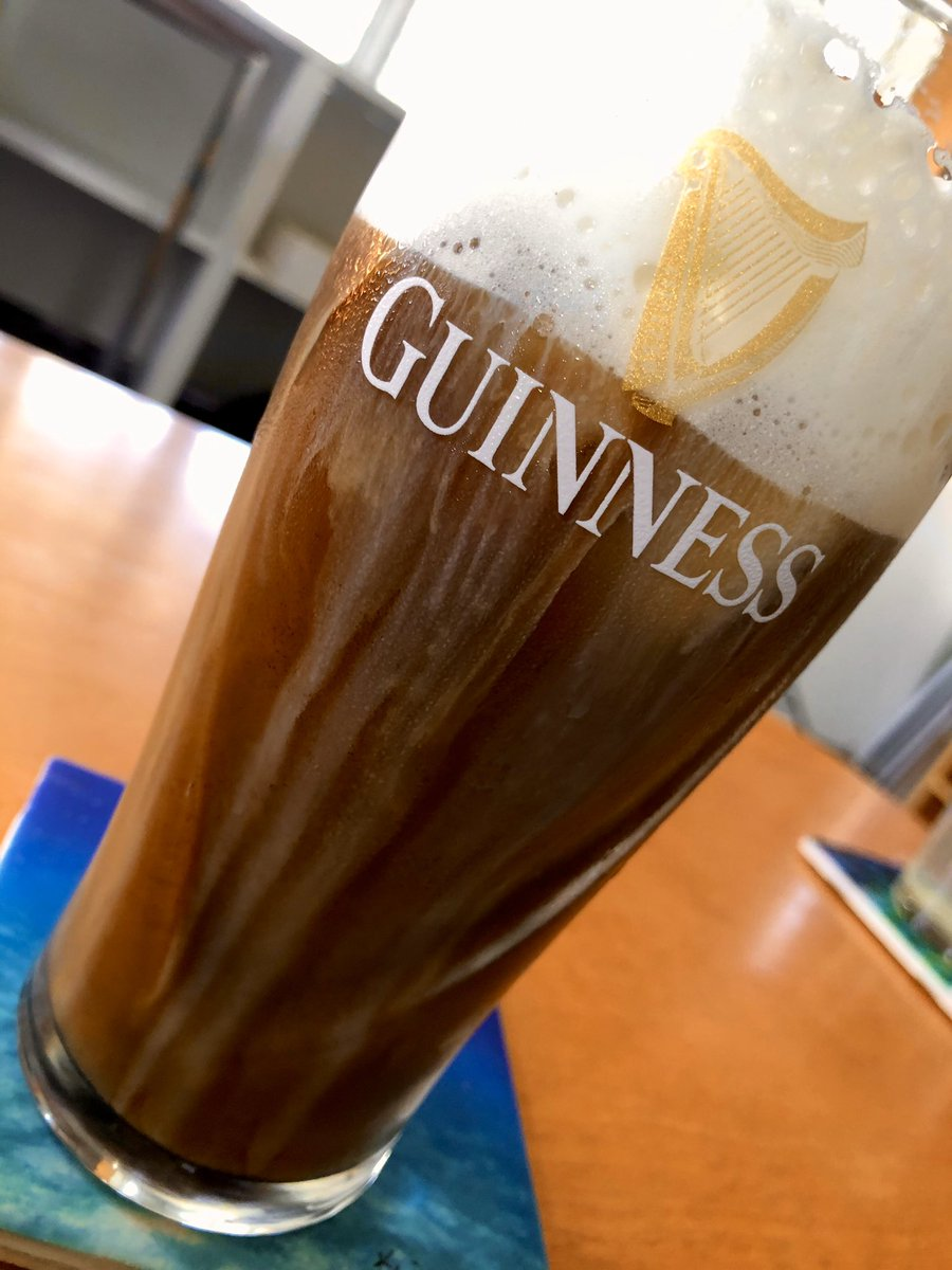 Ice coffee in a @Guinness beer glass. A boy can dream, can't he? Sláinte! 🍺☕️🍺☕️🍺 #MyDayInLA #Guinness #SaturdayMotivation
