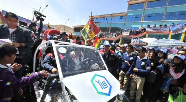 "Former Bolivian President Evo Morales posted on Twitter when he launched the car. ""With a heart full of joy and pride, we premiered the first vehicle assembled with ""Bolivian lithium"" in Potosí that will use energy from the lithium batteries of La Palca, in the same department."" <br>http://pic.twitter.com/xNag3ybQRo"