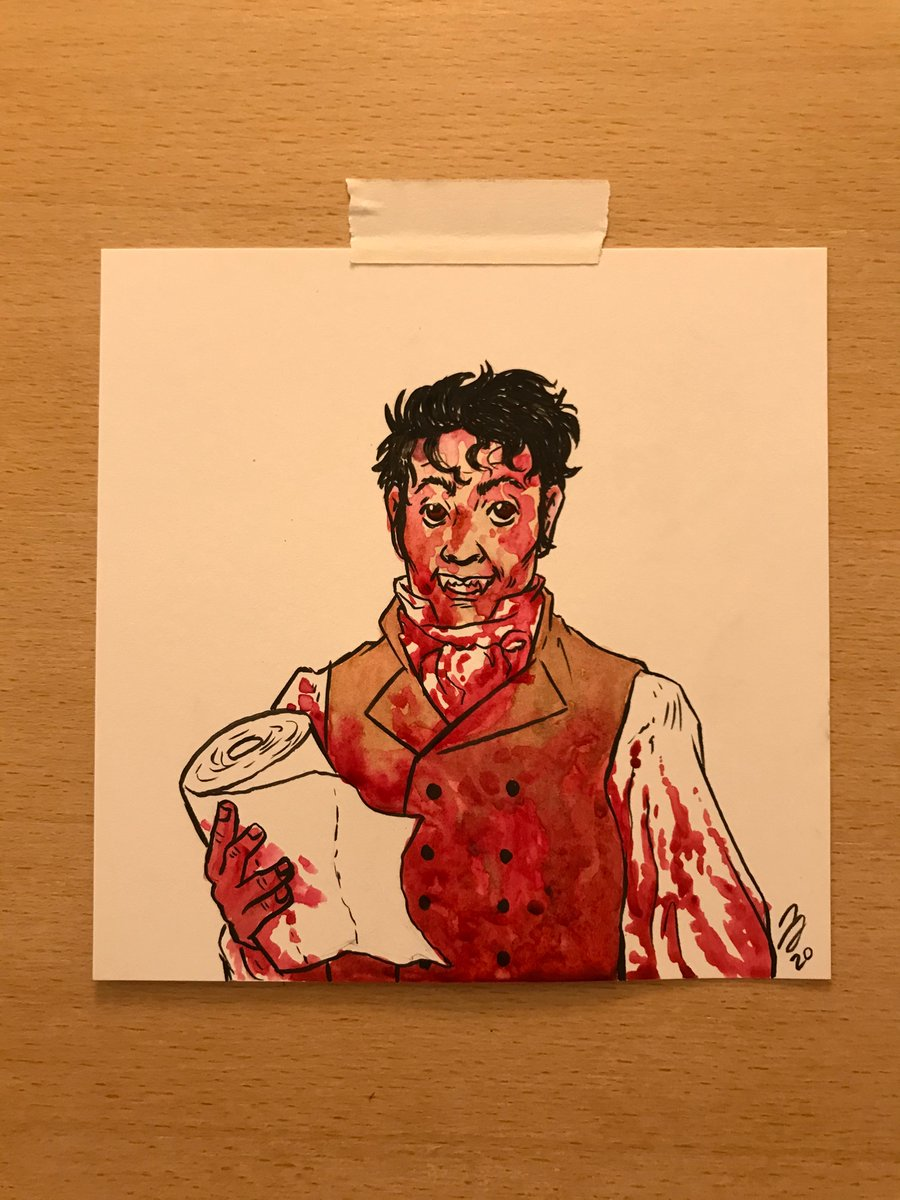 Drawn during the Tiny Con 2 livestream with @elisawikey! Viago from What We Do in the Shadows. We also talked about  haunted dolls, dybbuk boxes and CATS. #WhatWeDointheShadows #taikawaititi pic.twitter.com/qJ9WEUJbEB