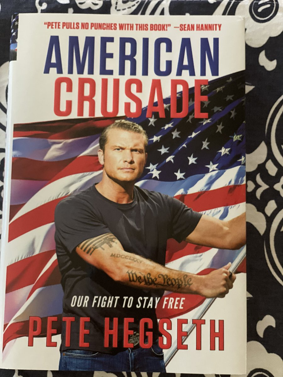 @PeteHegseth Got my signed book today! Can't wait to read it