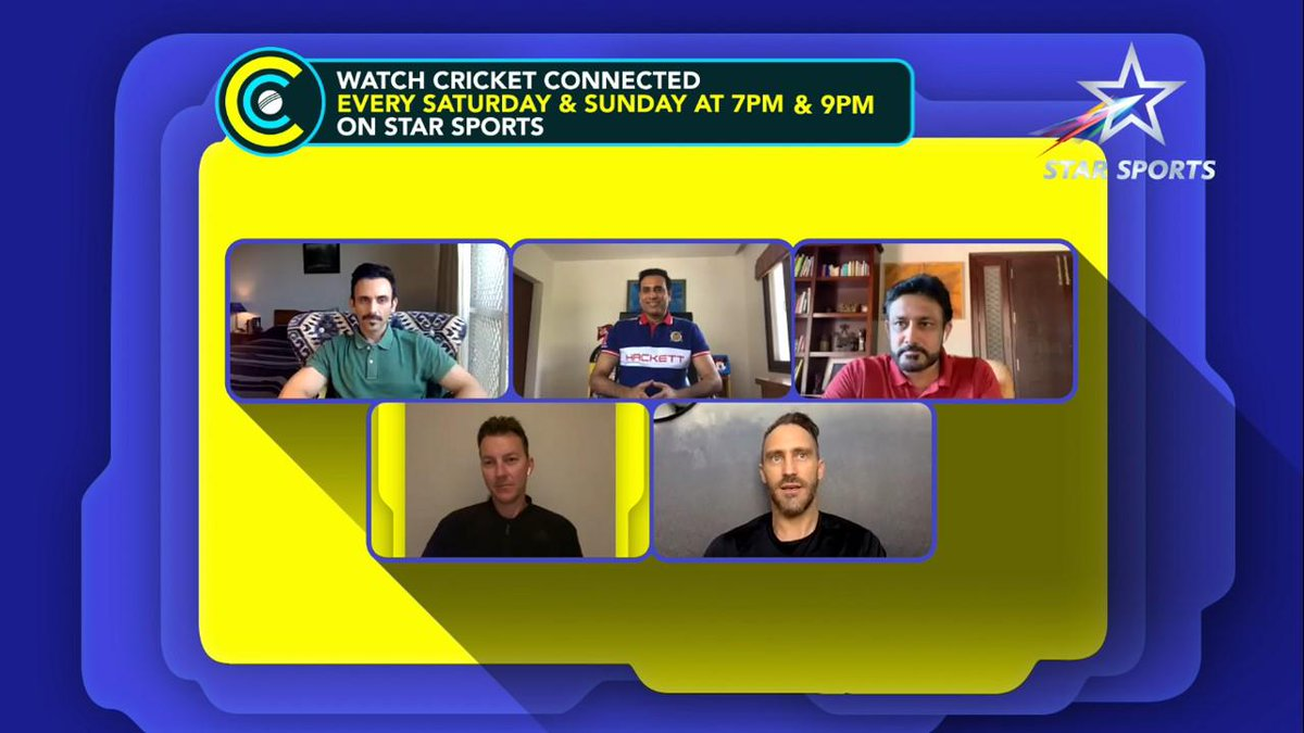 Top panel this weekend -Discussing saliva ban and the impact on the game, IPL chances, playing through pain stories, catching up with players at home and much more. Joined by @anilkumble1074 @faf1307 @VVSLaxman281 @BrettLee_58 - 7 & 9pm Tonight and Tomorrow #cricketconnected https://t.co/ZjObXVJeo2