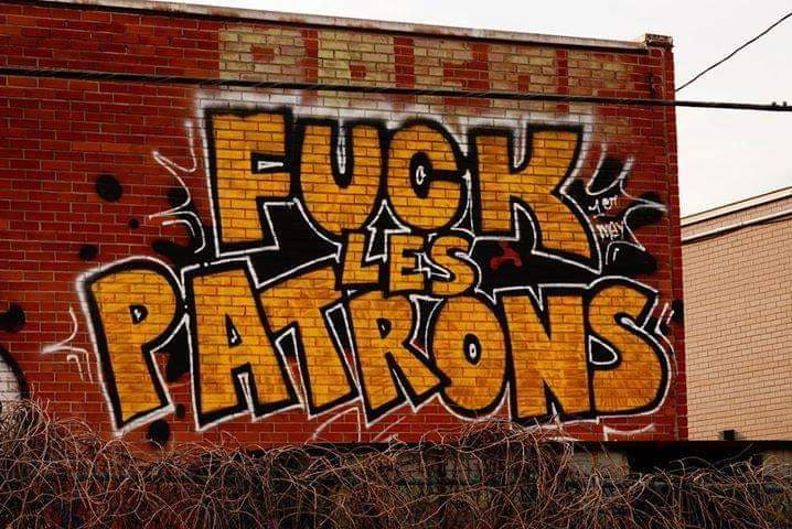 """Fuck Bosses"" Seen in #Montreal, #Quebec pic.twitter.com/eYpCE90cUZ"