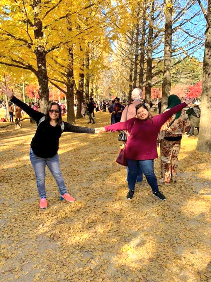 Nami Island - one of my must-go destinations in the Fall.🥰💜  The fall foliage of Ginkgo trees were magical😍 must come back during Spring next time🤗  #VisitKorea #KoreaTrip #Naminara #namiisland #fall2019 #fallfoliage #bucketlist