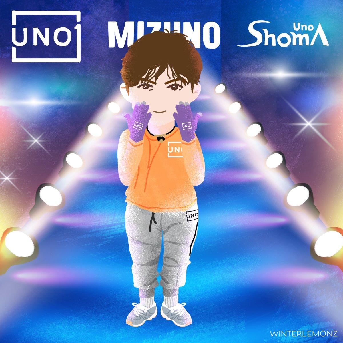 The new items added   #宇野昌磨 #shomauno #MIZUNO pic.twitter.com/YDHAphKyrw