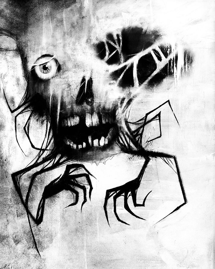 I had an imaginary friend as a kid and this is what they looked like. We were best friends. #horror #horrorart #illustration #scarystories #monster #imaginaryfriend #darkart #creepy #creepypasta #SaturdayMorning #notarealfriend pic.twitter.com/NC0thEXjKf