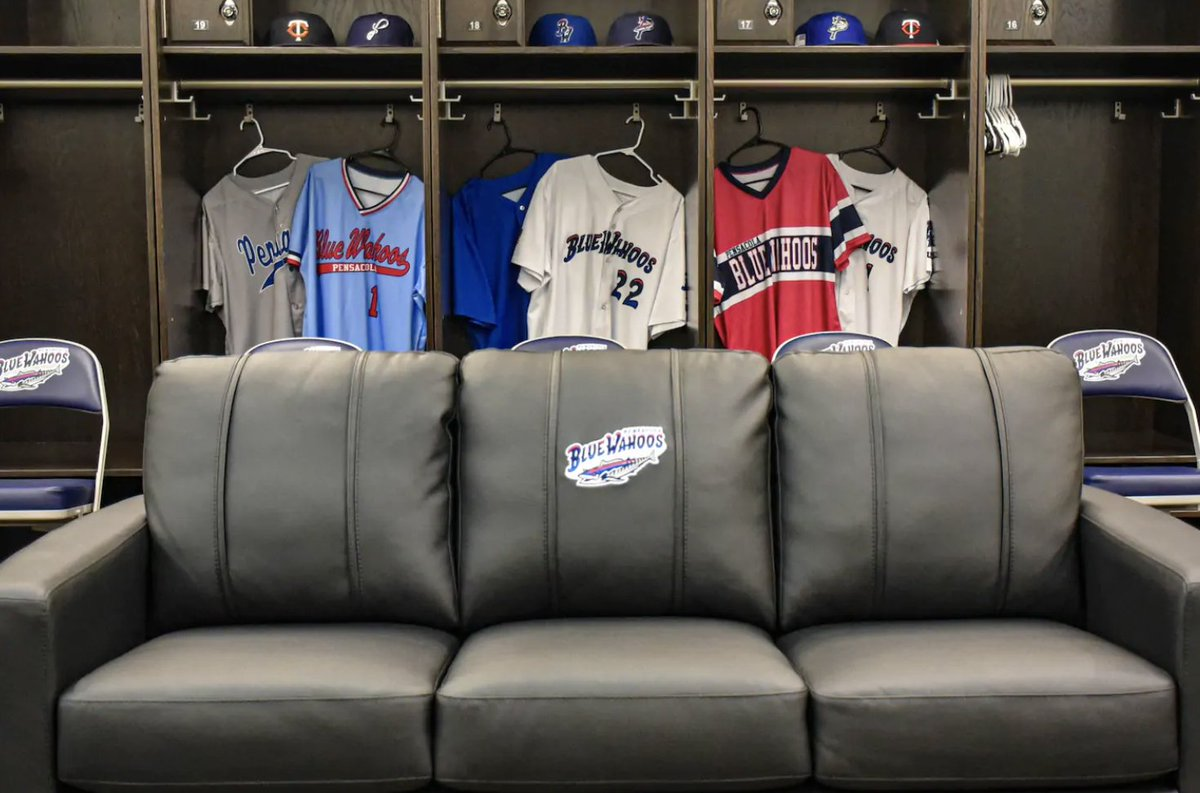 The Pensacola Blue Wahoos, the Double-A affiliate of the Minnesota Twins, have placed their stadium on AirBnB.   For $1,500 per night, guests staying at the ballpark will have full access to the clubhouse, a large bedroom with 10 beds, the batting cage, and the field itself. https://t.co/oANl6UTP4e