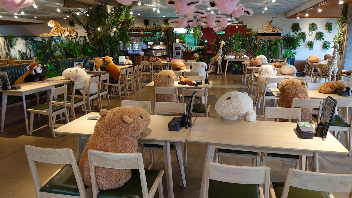 @reuterspictures @Athit_P 😁This is a ZOO Restaurant in Japan...Capivara Social Distancing https://t.co/FW0VMnPVUg