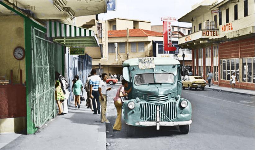 Panama city 1970s early 1940s Chevrolet Bus. #Panama pic.twitter.com/W8uFWlk3ar
