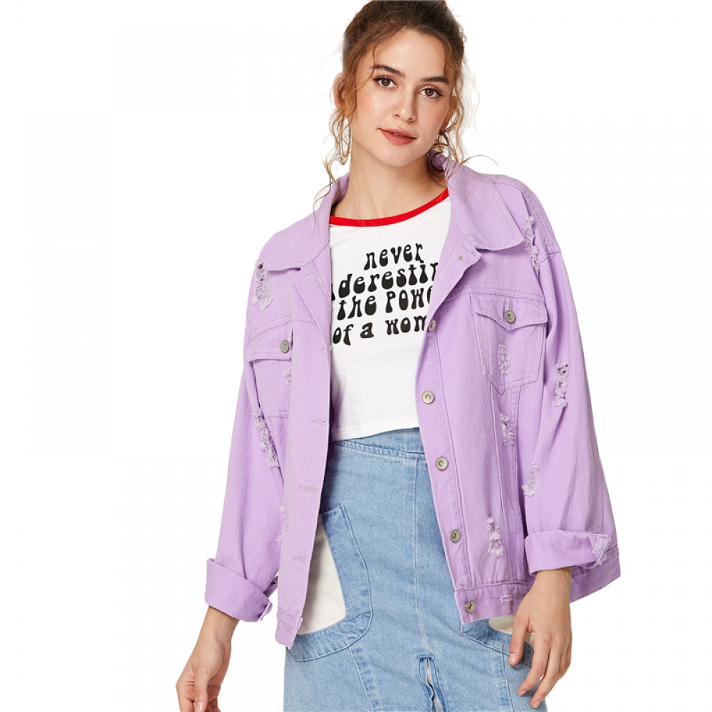 #instadaily #fashionista Oversize Lilac Color Ripped Denim Women's Jacket https://fashionlandz.com/oversize-lilac-color-ripped-denim-womens-jacket/ …pic.twitter.com/pH4B638x0m