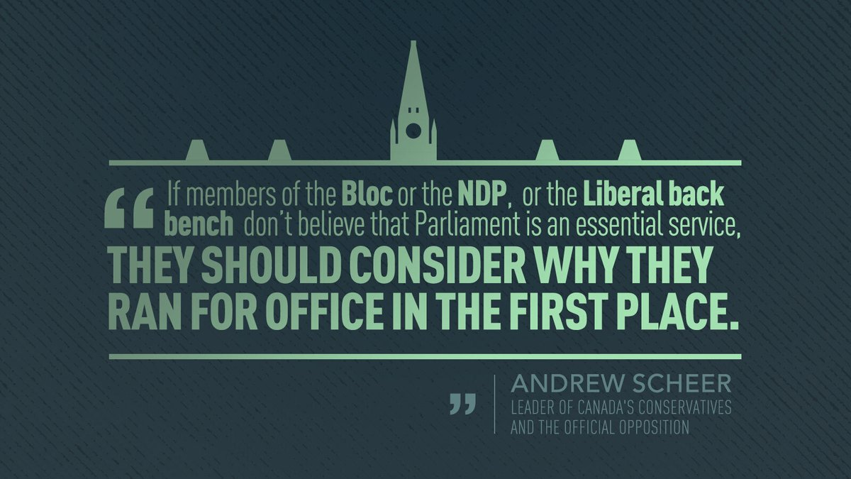 This isn't a partisan issue. This is about whether or not a democratic country like Canada should have a functional Parliament.   By not bringing Parliament back, Justin Trudeau is letting Canadians down. https://t.co/H55J8tKXyt