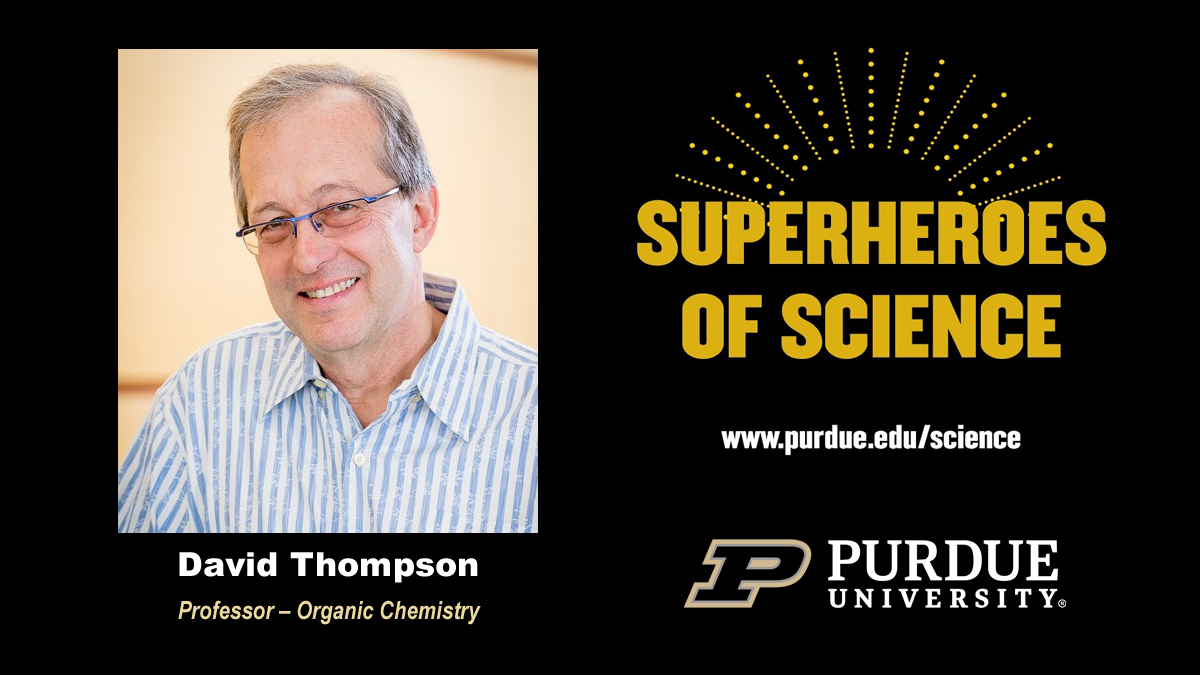 How do you block a virus? David Thompson explains #COVID19, creating new compounds, drug delivery and more. Watch the recent episode of @PurdueSOS here: youtu.be/c2MsqUuUACI #MyGiantLeap