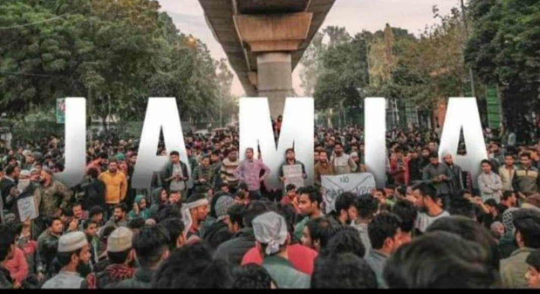 Targeting #JMI students for raising their voice against draconian law and putting them behind the bars one by one shows the major fear of government.. In solidarity with innocent students.  #StandWithJamiapic.twitter.com/B0tO8yITHK