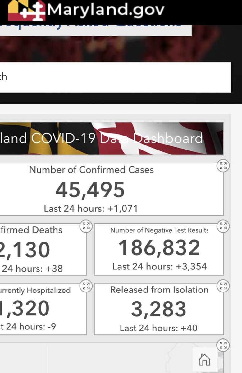 #Maryland #coronavirus again we r over 1000 new cases and lost 38 more #Marylanders #OneVoice1