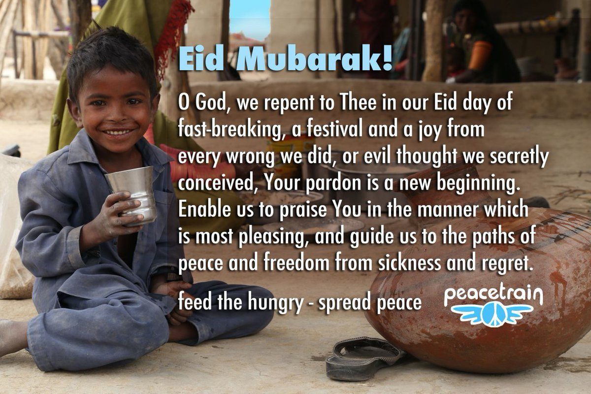 Eid Mubarak!  Feed the Hungry - Spread Peace  #prayathome #celebrateathome https://t.co/wy6OEfr36s