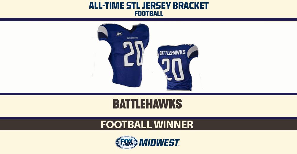 Your choice as the all-time best STL football jersey! @XFLBattleHawks Up next (on Tuesday): Basketball jerseys.