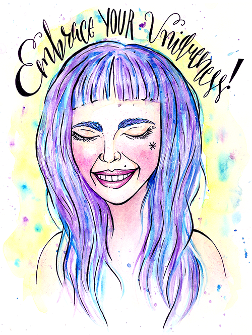 Your individuality is beautiful 💜 If you're struggling, reach out to us 24/7 for support at: 866.488.7386 or text/chat: https://t.co/hxtScqt870 📲 🎨 art by yasminacreates 🎨 #lgbtq #trans https://t.co/3rdeNB3uAz