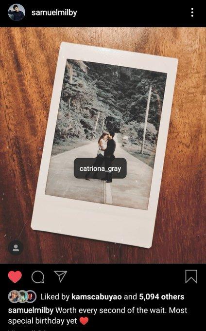Happy birthday! Worth the wait. Sam Milby X Catriona Gray