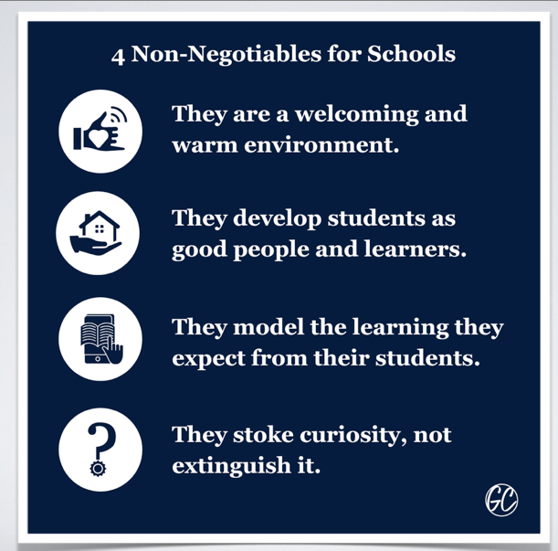 4 Non-Negotiables for Schools #Podcast buff.ly/2LthZx3