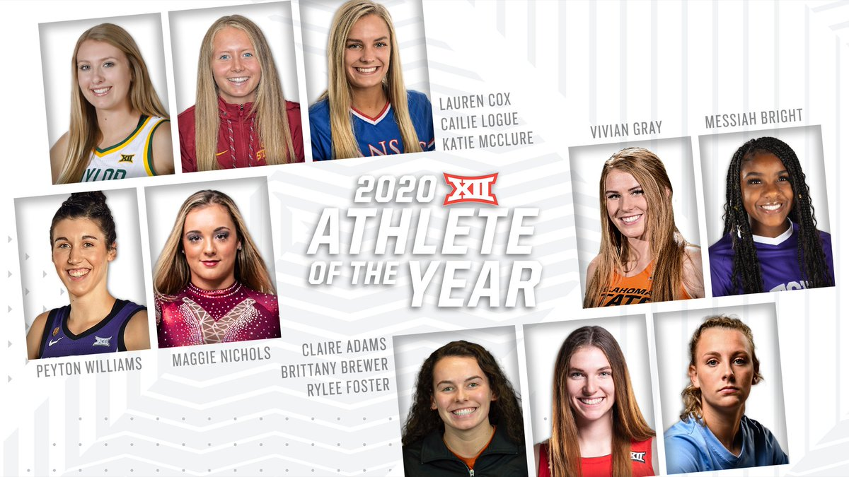 Go 𝗩𝗢𝗧𝗘 for your 2020 Big 12 Female Athlete of the Year! 🏆 ➡️ big12.us/20AOY