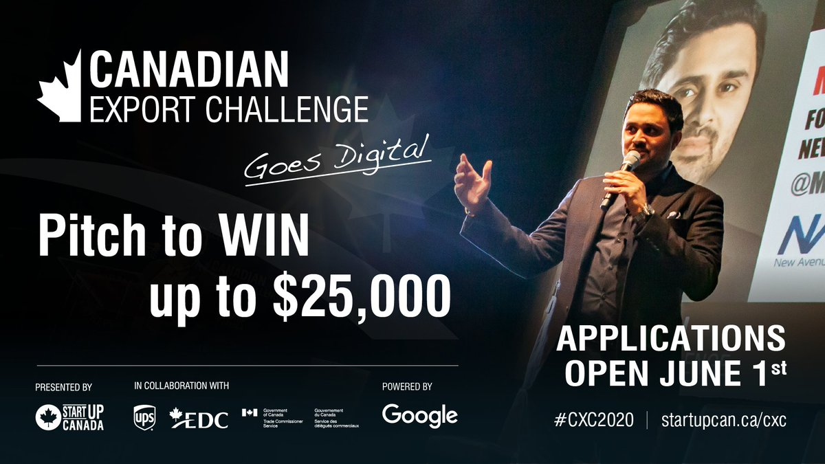 If you're looking to share your knowledge and support members of Canada's export community, then join #CXC2020!  Share your knowledge and support fellow entrepreneurs affected by #COVID19!  Learn more, here: https://t.co/3xvYs1WZyw https://t.co/c0hK7EoTIw