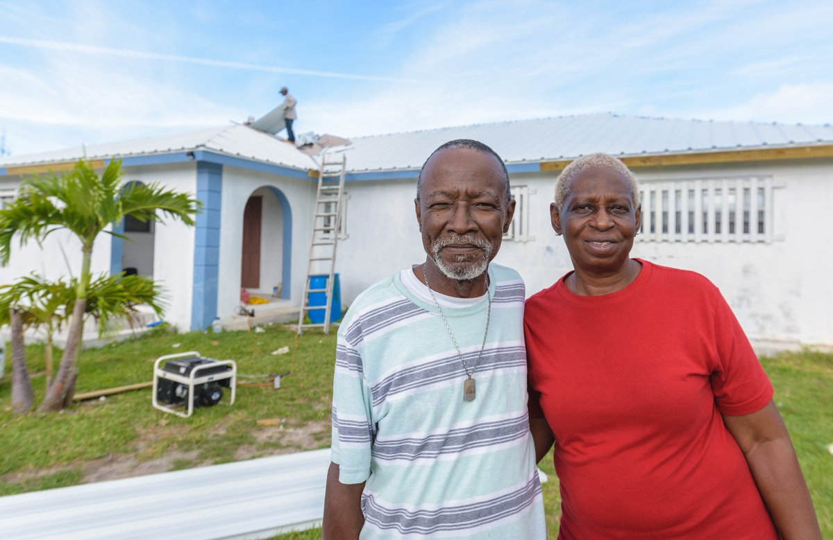 In the Bahamas, weareserving families like the Moss family who survived #HurricaneDorian by fleeing their home once the roof caved in. More than 8 months after the storm, we are clearing debris and repairing homes. https://t.co/Mbd39sBbv7 https://t.co/N6UFcRzM0N