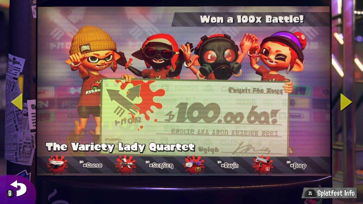 YEAH BOIIIIS #Splatoon2 #NintendoSwitch #x100battle #ketchupvsmayo #teamketchup #splatfest