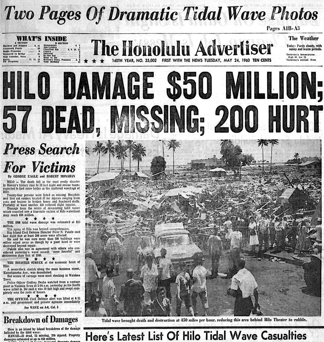 tsunami hawaii 1960 tsunami 4 the 1960 chilean